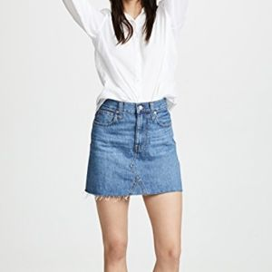 Madewell a line mini skirt rigid denim eco 28
